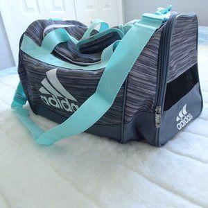 Adidas Duffel Gym Bag  Gray & Blue